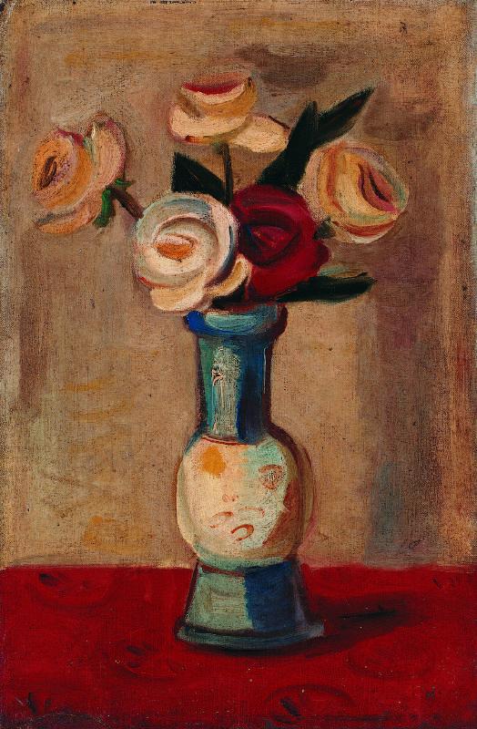 陳植棋 玫瑰 1925-1930 油彩畫布 41×27cm