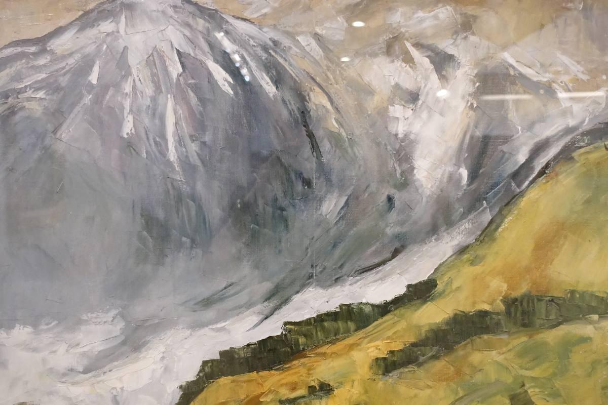 呂基正,《小雪山景》局部,1985