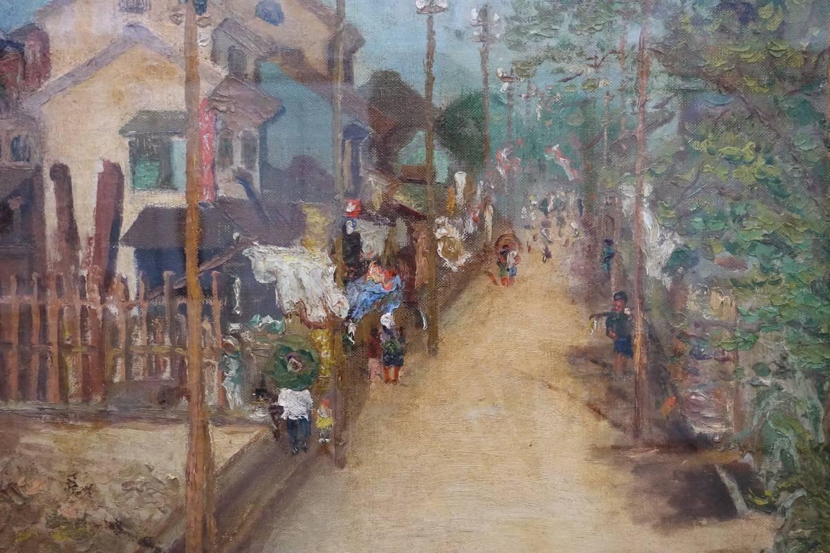 陳澄波,《嘉義街外(二)》局部,1927