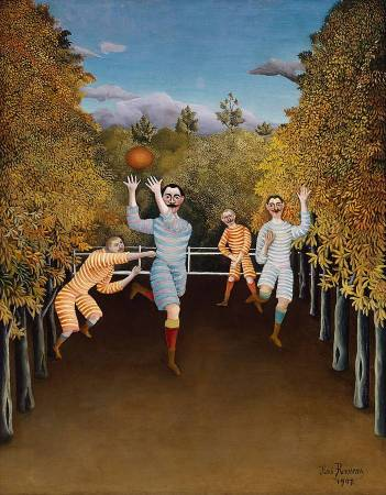 Henri Rousseau,《The Football Players》,1908。圖/取自Wikimedia Commons。