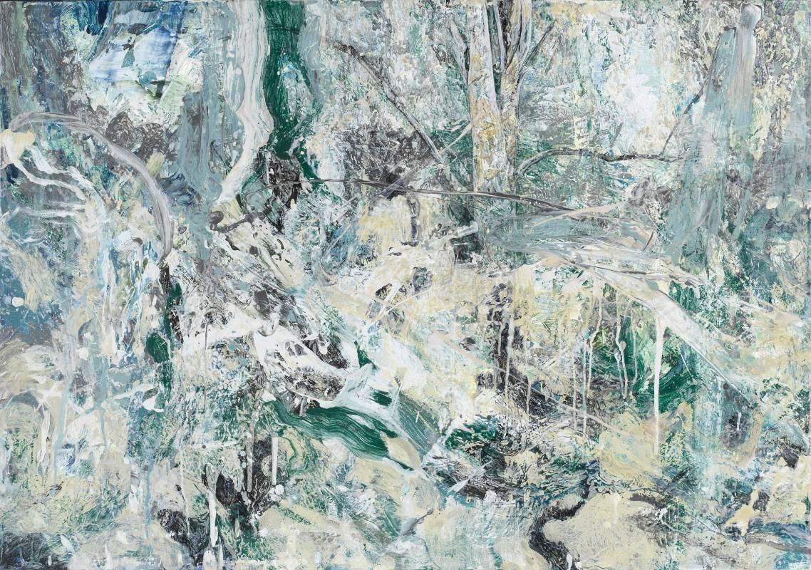 許聖泓《森林18.》,2018,壓克力顏料、畫布,100 x 143 cm
