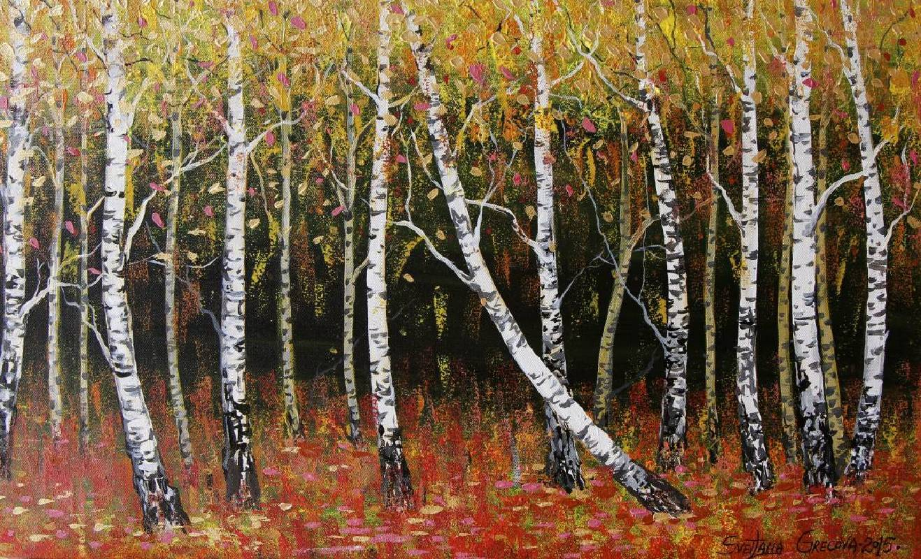 葛拉娜,《Birches, Autumn》。
