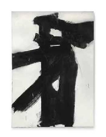 Franz Kline,《Untitled》,1955。圖/取自Wikipedia。