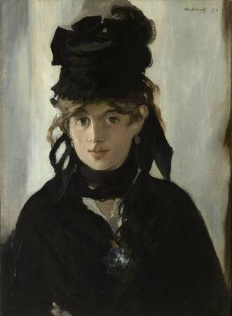 愛德華·馬內《Berthe Morisot with a Bouquet of Violets》,1872。圖/取自Wikipedia。