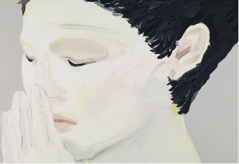 04. 黃華真,《安靜》,2013,油彩/畫布,112 x 162 cm