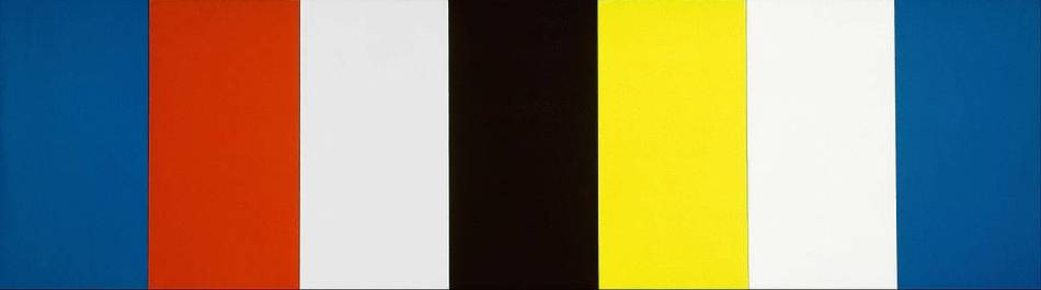 Ellsworth Kelly,《Red Yellow Blue White and Black》,1953。圖/取自Wikipedia