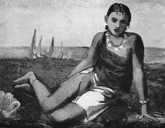 顏水龍,《紅頭嶼之娘》,1936。圖/取自Wikipedia
