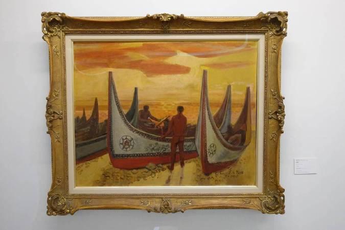 顏水龍,《蘭嶼》,1963。圖/非池中藝術網攝