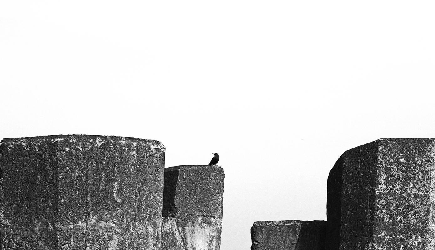 尋一角藍天#2, 100x60cm, 高階藝術微噴於無酸性油畫布, 2015