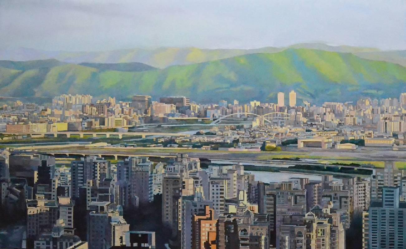 施金宏-這城市-台北人(2)-油畫-80x130cm-2018
