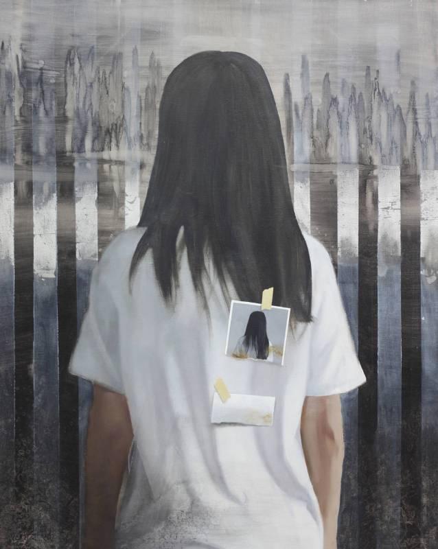 許見安-人物意象-擬態系列之十二-油畫-91x72.5cm-2017