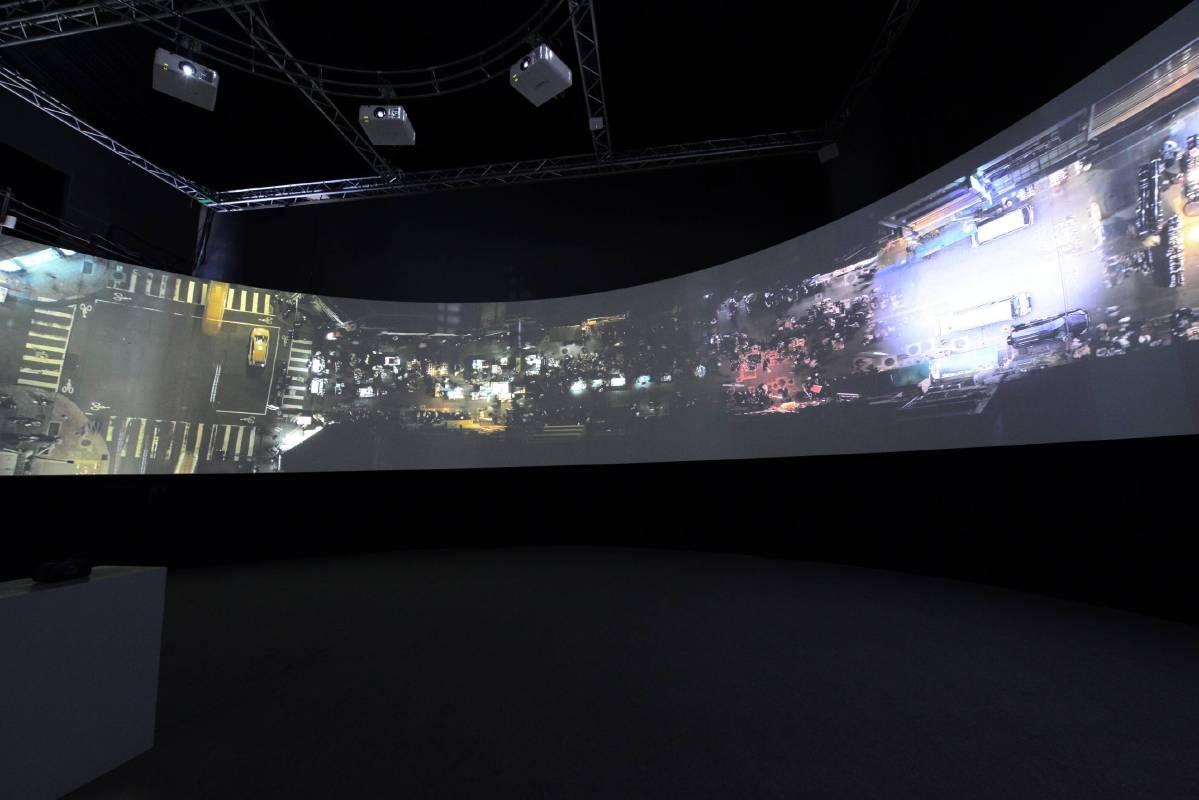 國美館「洪譽豪:流動的街區」展場