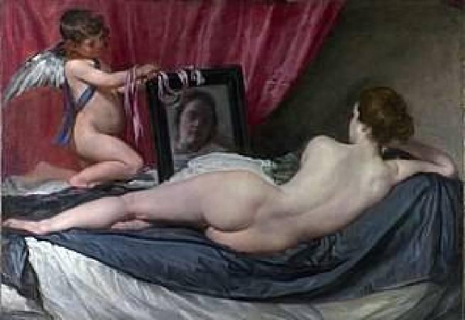 《鏡前的維納斯》, Diego Velázquez。