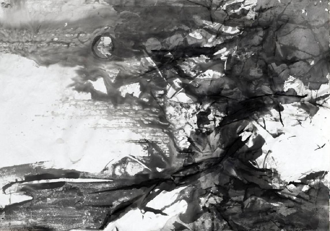 周宸 Chou Chen/ 戊戌孟夏初六 2018 05 06 , 水墨、複合媒材 Mixed Media on paper , 45x63cm , 2018