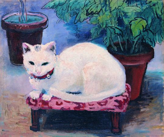 潘玉良,《白貓》,1943。圖/本站