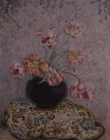 潘玉良,《鬱金香》,1958。圖/本站