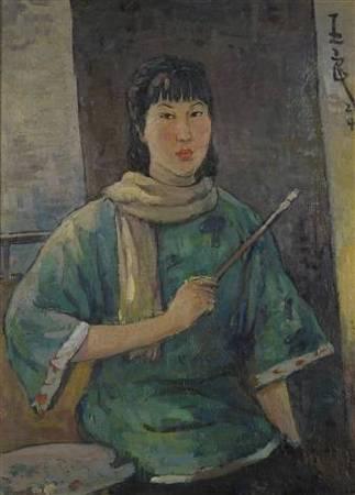 潘玉良,《自畫像》,1924。圖/取自wikimedia