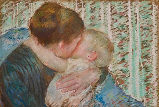 瑪麗.卡薩特,《晚安擁抱》。圖/非池中藝術網新聞。