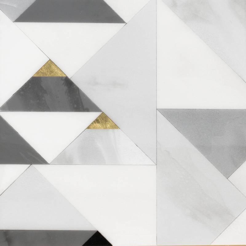 方信普_Joey Found Path 11 徑 11_43x43cm_壓克力樹脂金箔複合媒材Acrylic, resin, gold leaf, and mix media on panel_2017