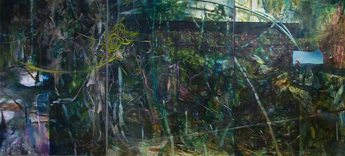 蔡鎮澤 Tsai Chen Tse_自然生成 A atural Growth_油彩、畫布 Oil on Canvas_162x344cm (300號)_2017