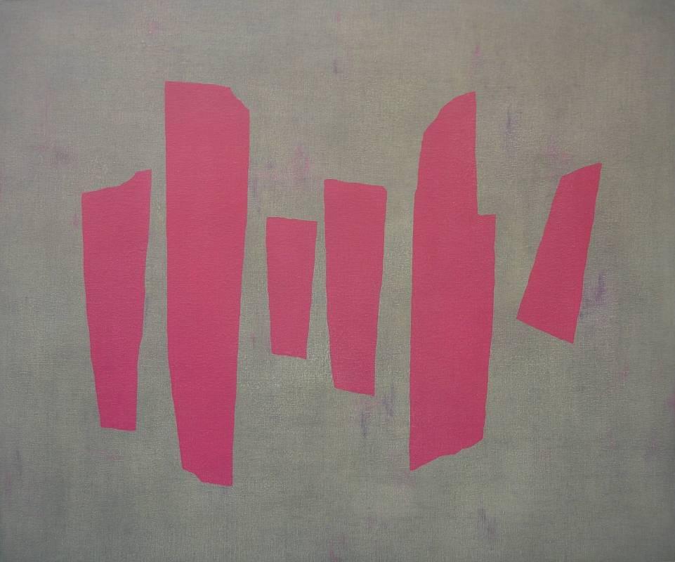 吳東龍 Blocks and Lines-13 2008 油彩 180 x 150 cm
