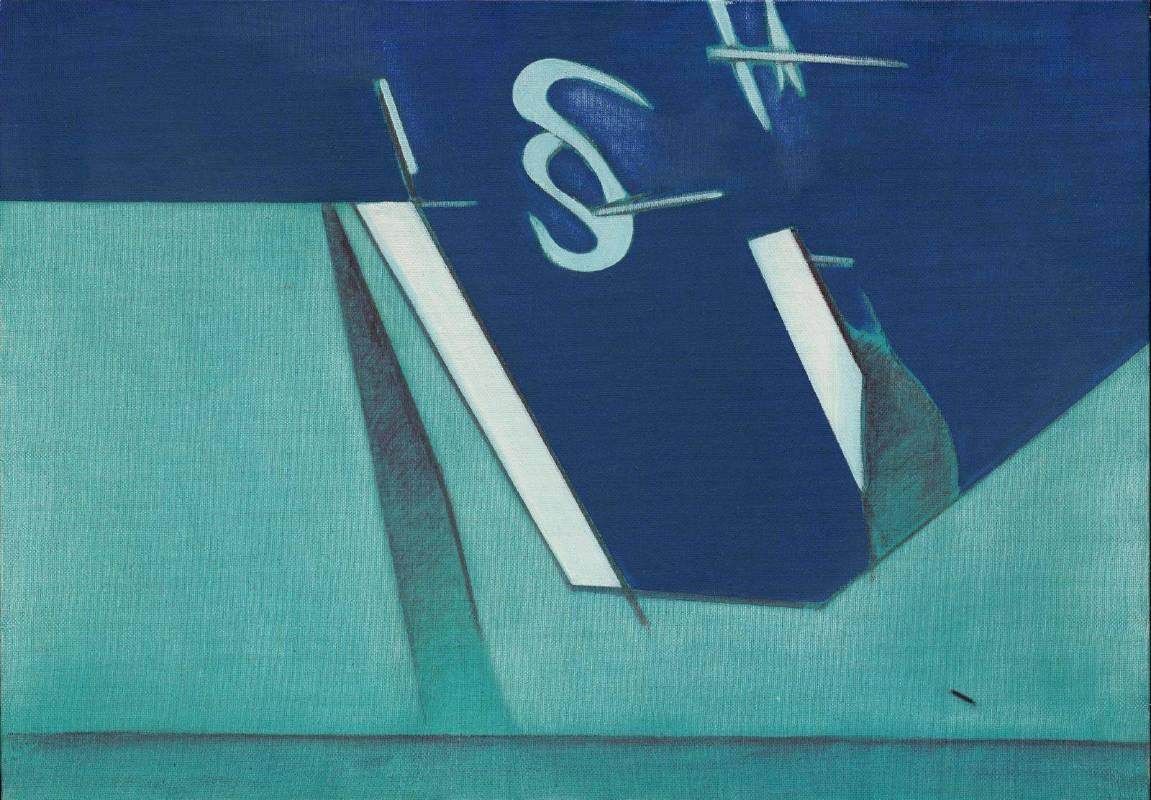 [A展廳] 霍剛  無題 70x100cm 油彩、畫布 1975