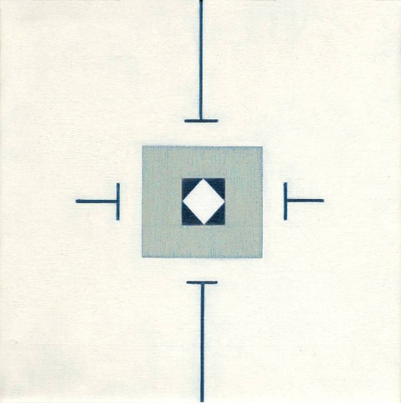 [B展廳] 霍剛  無題90 60x60cm 油彩、畫布 1990
