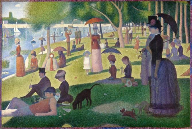 《大碗島的星期日下午》,Georges Seurat。