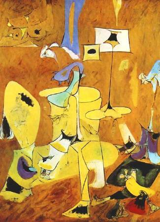 Arshile Gorky,《The Betrothal II》,1947。圖/取自Wikiart。