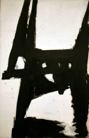 Franz Kline,《Four Square》,1956。圖/取自Wikiart。