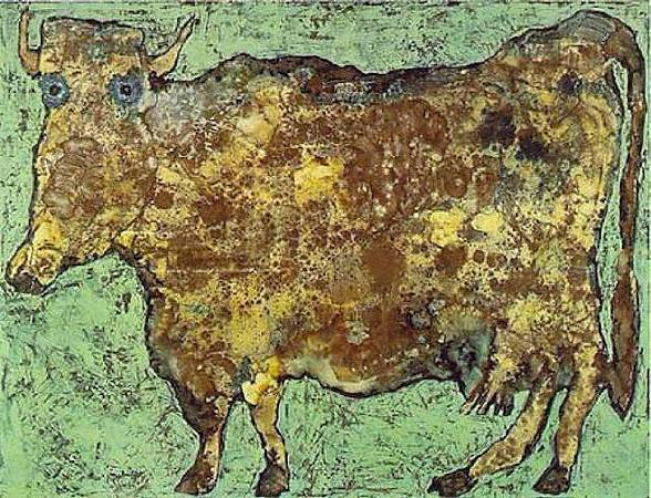 Jean Dubuffet,《The Cow with the Subtle Nose》,1954。圖/取自Wikiart。