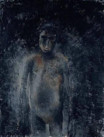 Jean Fautrier,《Nu noir》,1954。圖/取自Wikiart。
