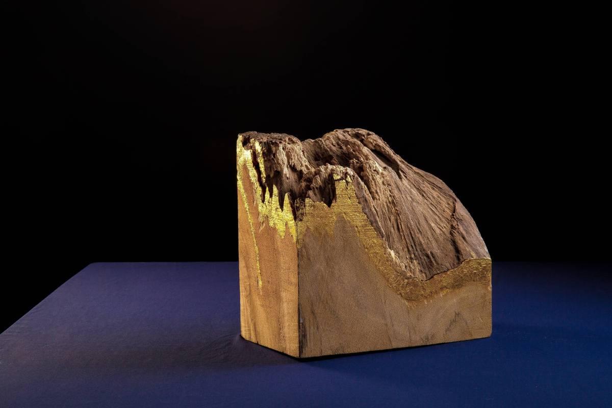 金山 桂蘭木、金箔、木蠟 25x15x20cm 謝衡 2017
