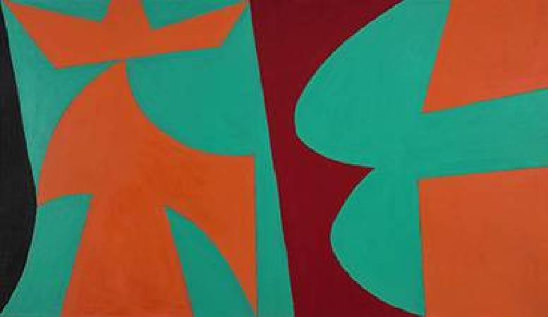 Lorser Feitelson, Untitled 1952, 40 x 70 inches. 圖/取自Wiki