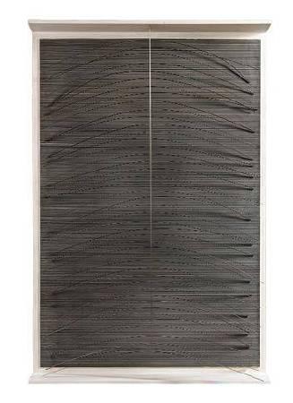 Jesus Rafael Soto,《La courve bleue》,1965。圖/取自wikiart。