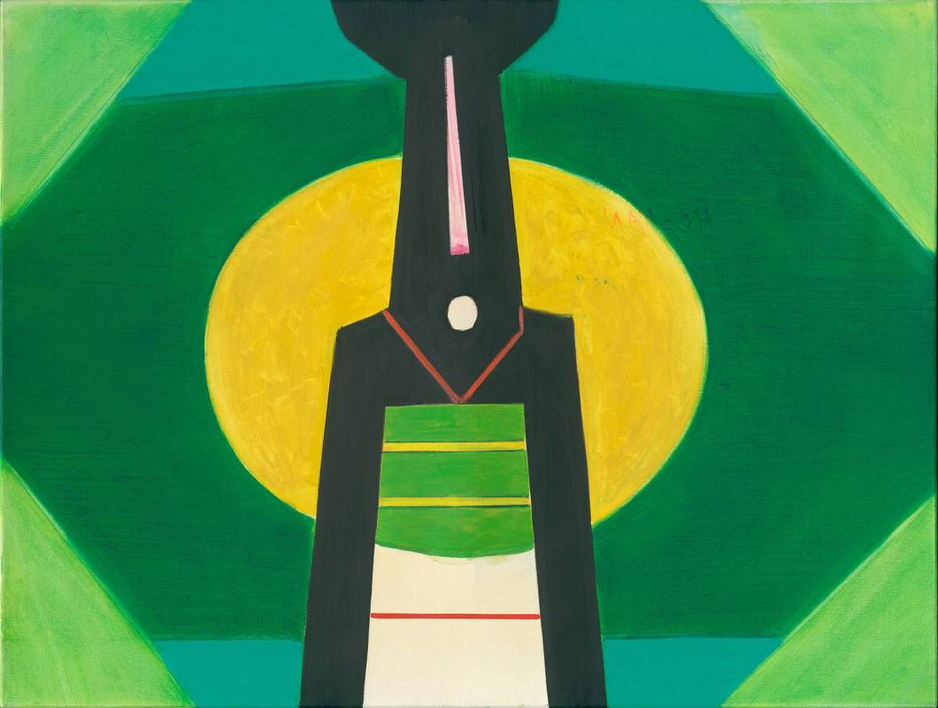 霍剛  開展之5   98x130cm  油彩、畫布 2009