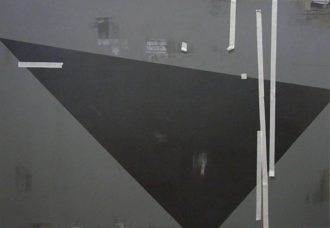 宋曉明  忐忑  112 x 162 cm 油彩、壓克力、比利時畫布  2013
