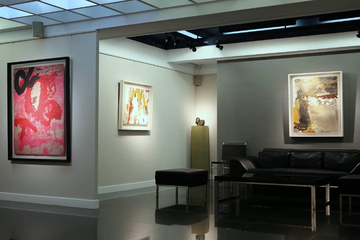 畫廊四十週年特展系列(三)  寫實意境x抽象表現 展覽場景