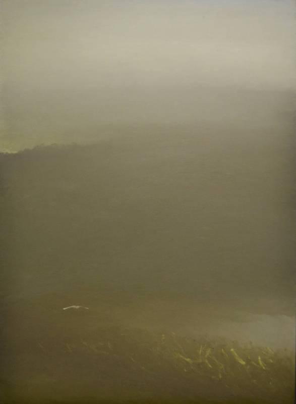 葉東進. 山之音系列No.813. 2018年. 75x55cm(20.6F). 油彩蠟筆 .卡紙