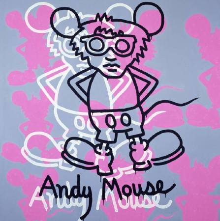 凱斯•哈林《Andy Mouse》,1985 © The Keith Haring Foundation。圖/The Albertina Museum提供。