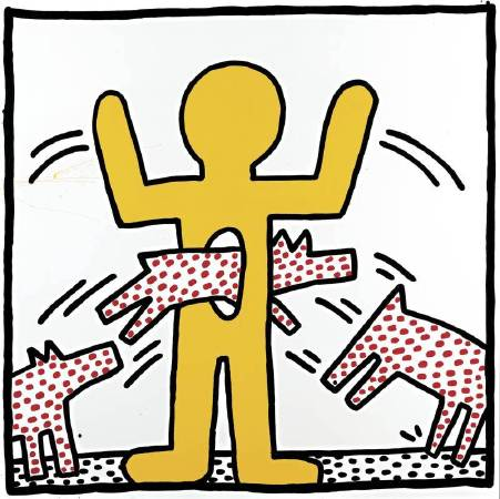 凱斯•哈林《Ohne Titel》,1982,Courtesy of Larry Warsh © The Keith Haring Foundation。圖/The Albertina Museum提供。