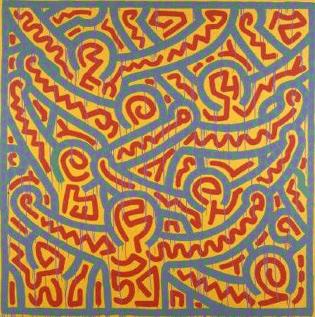 凱斯•哈林《Untitled》,1989 © The Keith Haring Foundation。圖/The Albertina Museum提供。