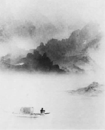 郎靜山,《斜風細雨不須歸》。圖/取自wikimedia
