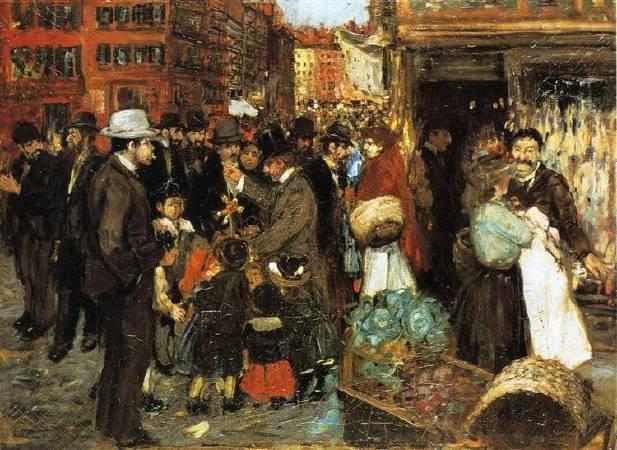 盧卡斯,《赫斯特街》,1905年。 圖/取自Wikiart。