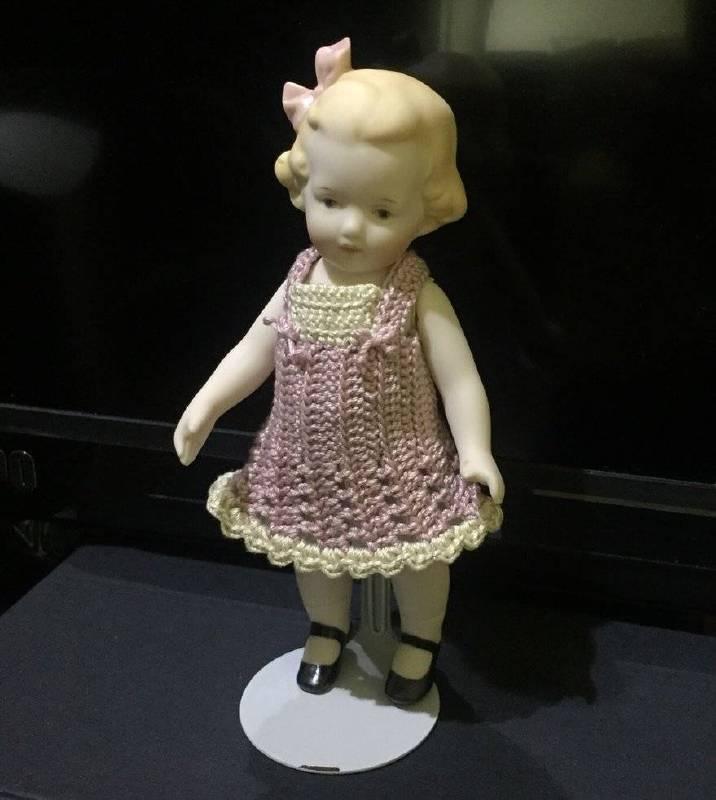 陶瓷娃娃 木村和子 13.5X7X4.5cm 陶瓷/毛線