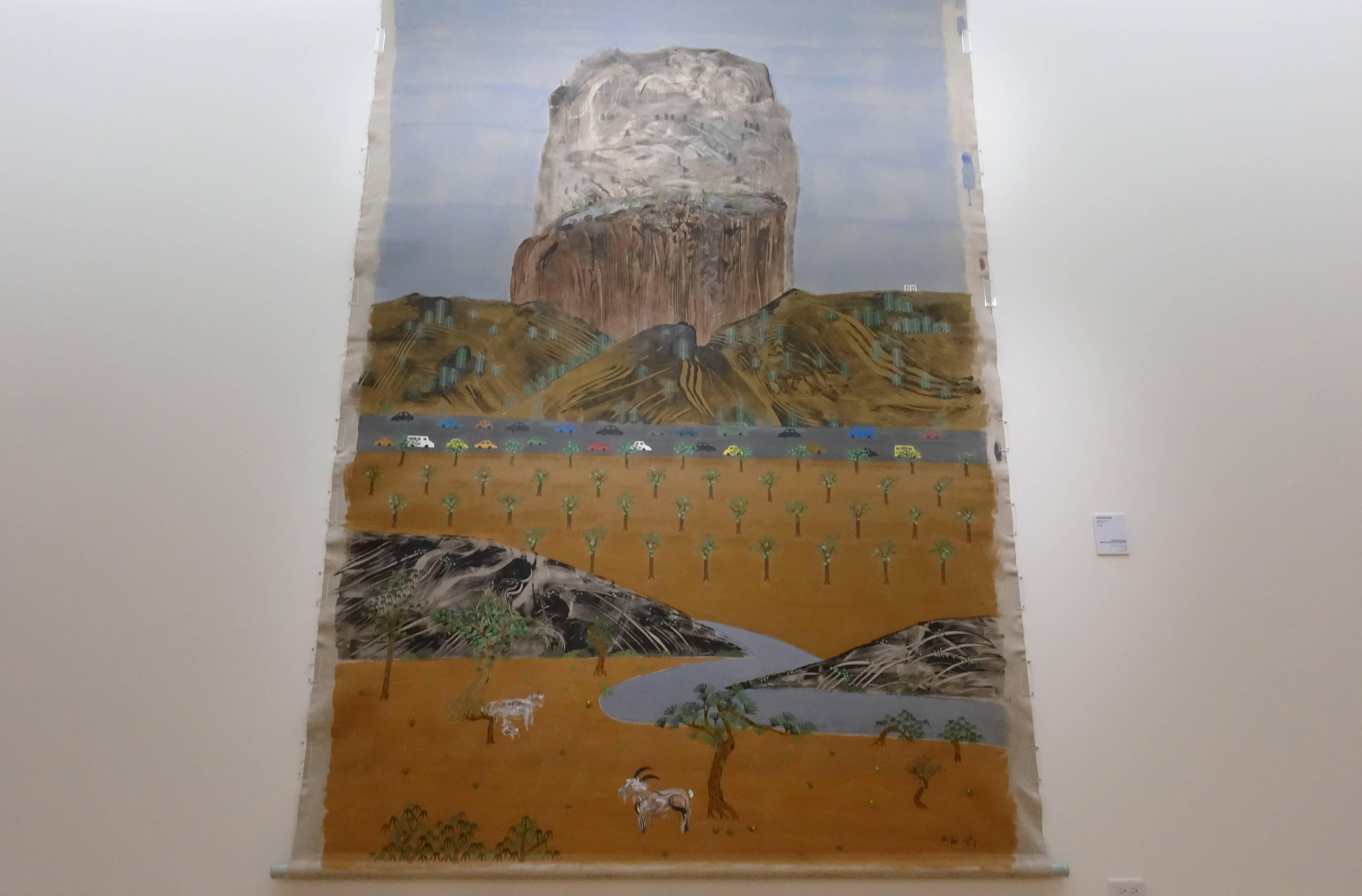 夏陽,《續仲立先生谿山行旅圖》。