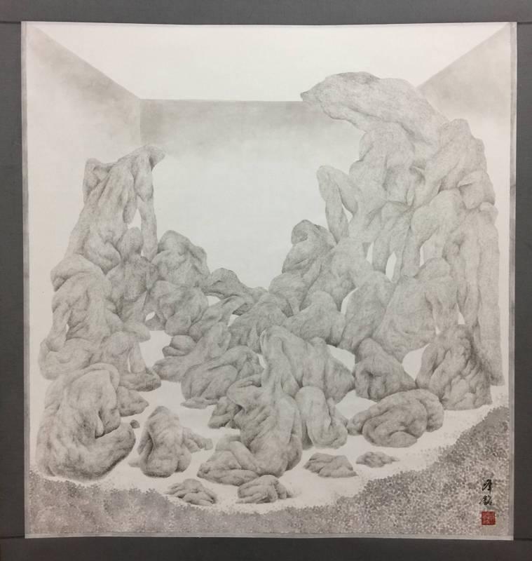 張峰銘    心象山水 |水墨、蟬翼宣 / 93 X88 cm / 2017
