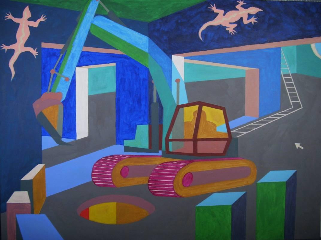 文明反思–3, 97x130cm, 複合媒材, 2017