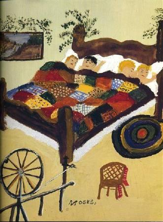Grandma Moses,《Waiting for Christmas》,1960