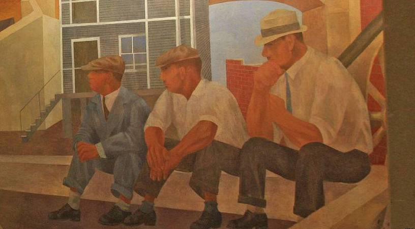 Ben Shahn,《Unemployment》。圖/取自wikimedia